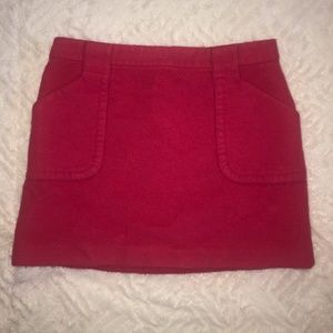 Pink JCrew Wool Miniskirt with Pockets